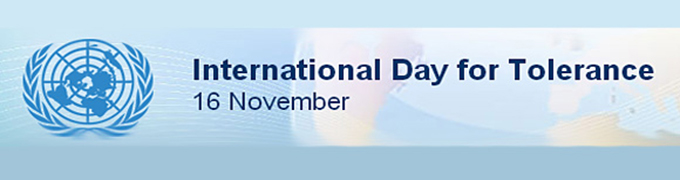 PRESS RELEASE: INTERNATIONAL DAY FOR TOLERANCE