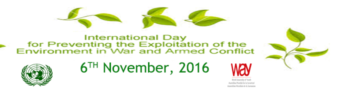 PRESS RELEASE: INTERNATIONAL DAY FOR PREVENTING THE EXPLOITATION OF THE ENVIRONMENT IN WAR AND ARMED CONFLICT